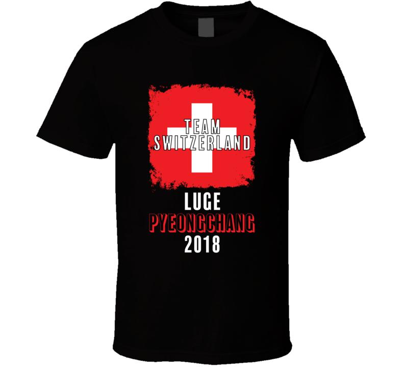 Team Flag Switzerland Luge Pyeongchang 2018 Olympic T Shirt