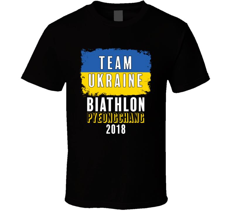 Team Flag Ukraine Biathlon Pyeongchang 2018 Olympic T Shirt