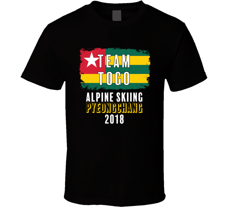 Team Flag Togo Alpine Skiing Pyeongchang 2018 Olympic T Shirt