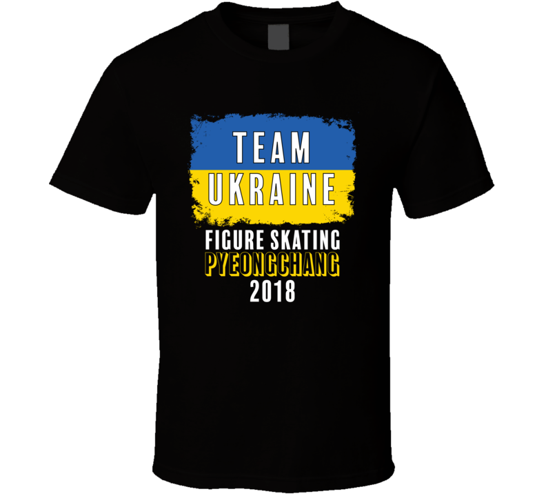 Team Flag Ukraine Figure Skating Pyeongchang 2018 Olympic T Shirt