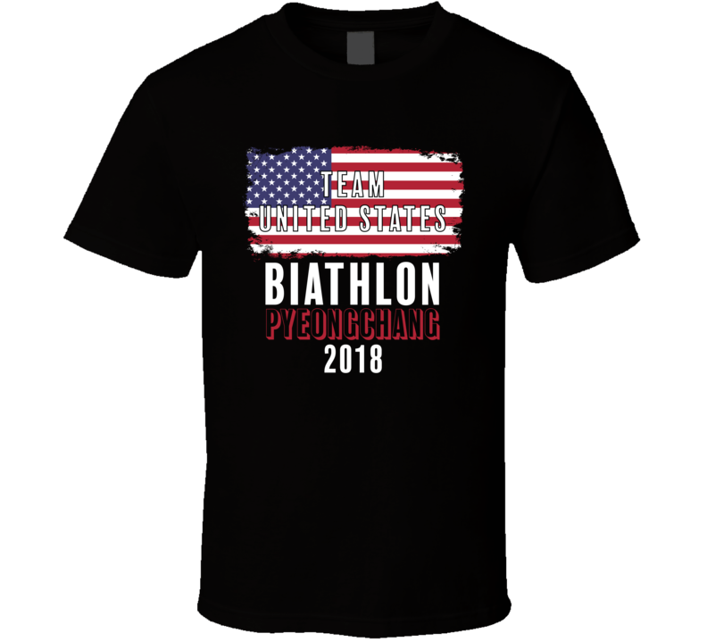 Team Flag United States Biathlon Pyeongchang 2018 Olympic T Shirt