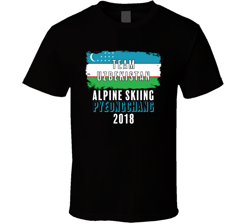 Team Flag Uzbekistan Alpine Skiing Pyeongchang 2018 Olympic T Shirt