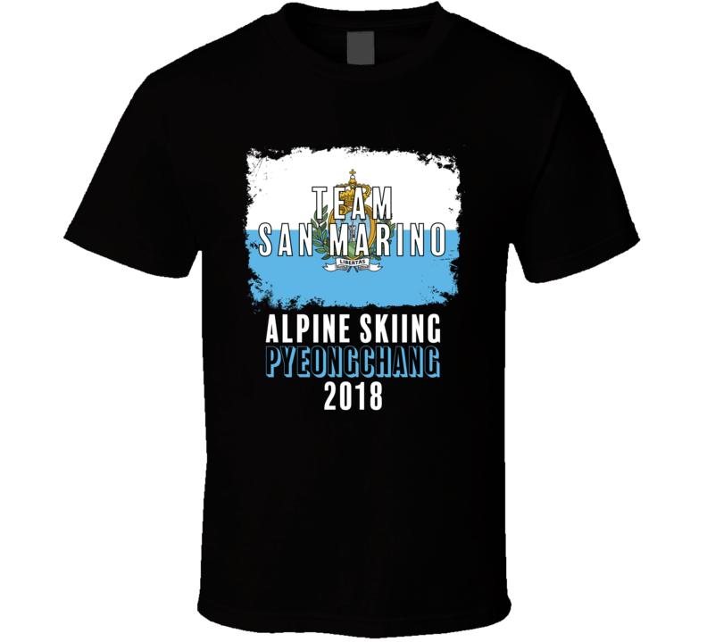 Team Flag San Marino Alpine Skiing Pyeongchang 2018 Olympic T Shirt