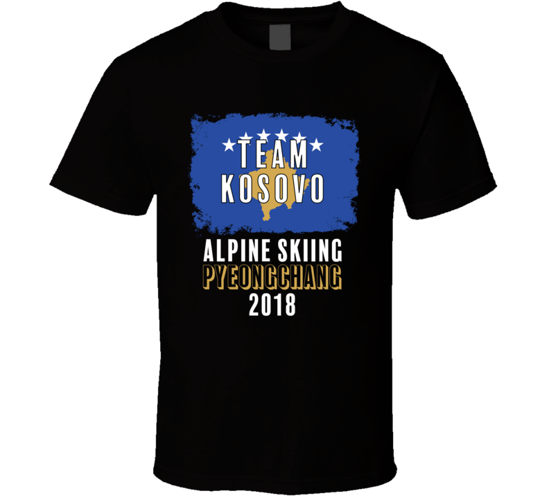 Team Flag Kosovo Alpine Skiing Pyeongchang 2018 Olympic T Shirt