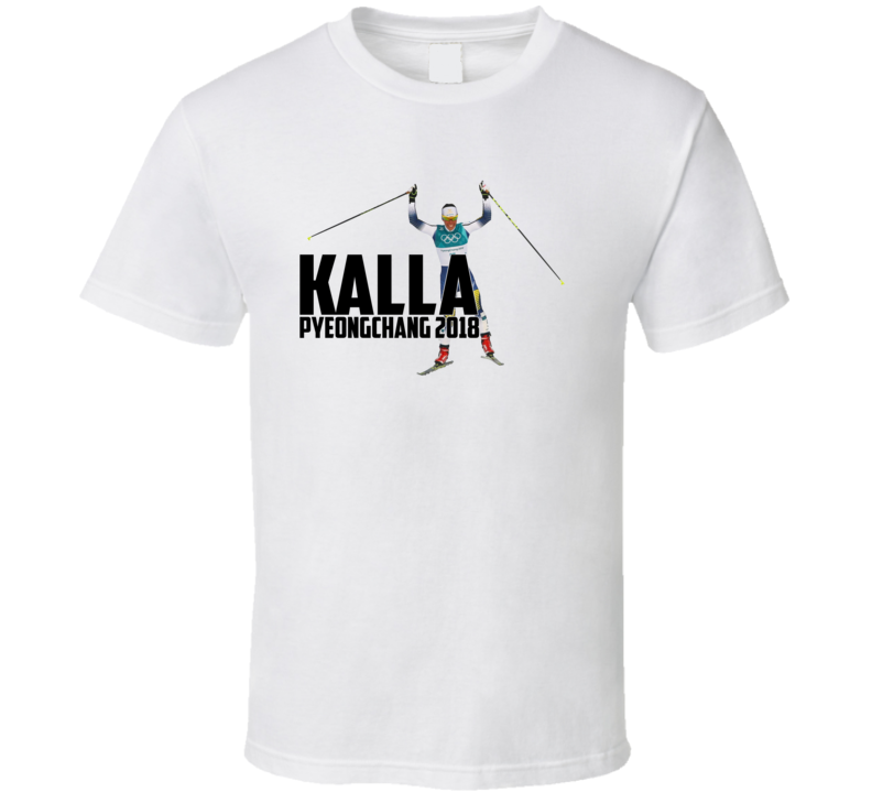 Charlotte Kalla Sweden Cross-country Skiing 2018 Olympic Athelete Fan T Shirt