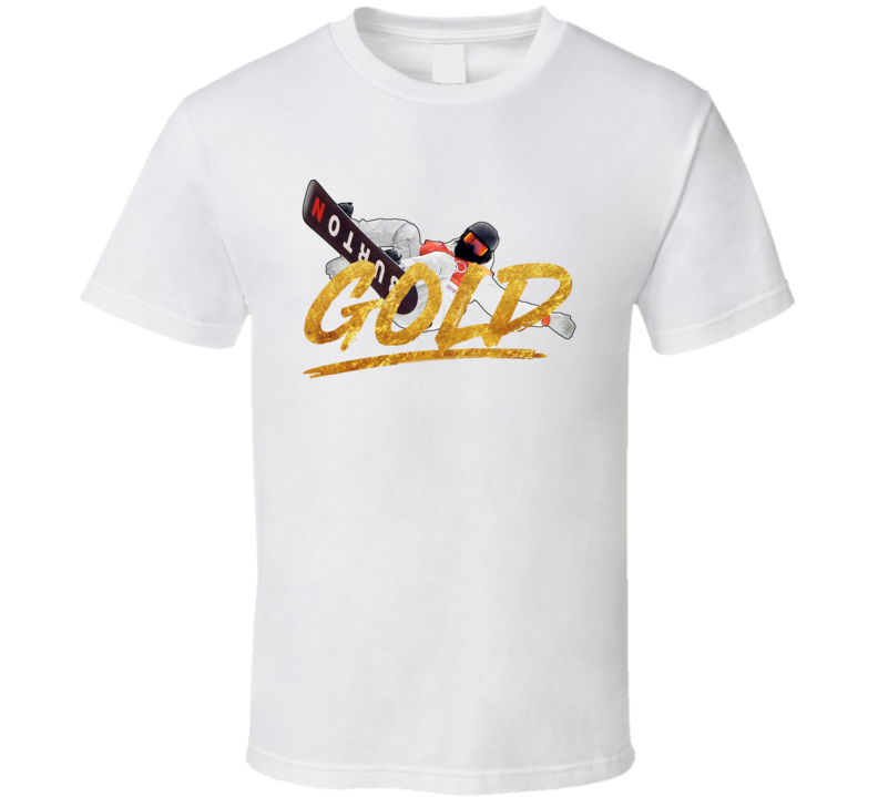 Shaun White Gold Usa Snowboarding 2018 Air Olympic Athelete Fan T Shirt