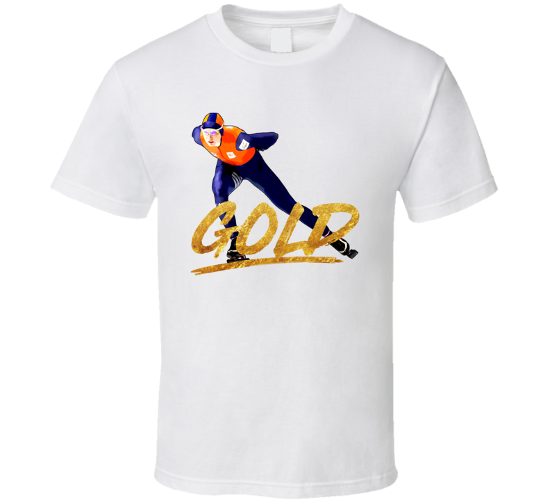 Carlijn Achtereekte Netherlands Speed Skating Olympic Gold Athelete Fan T Shirt