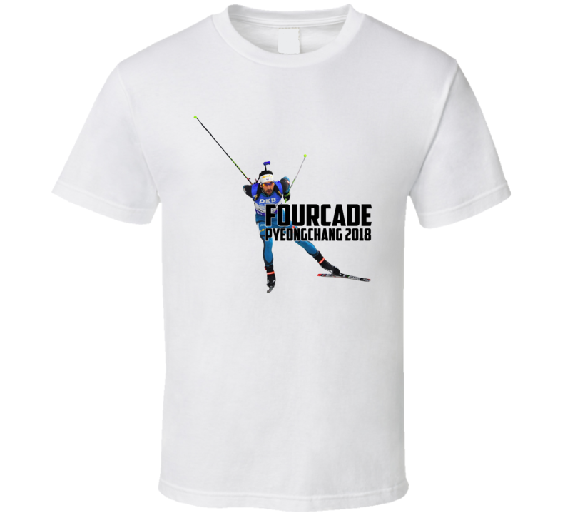 Martin Fourcade France Biathlon 2018 Olympic Athelete Fan T Shirt