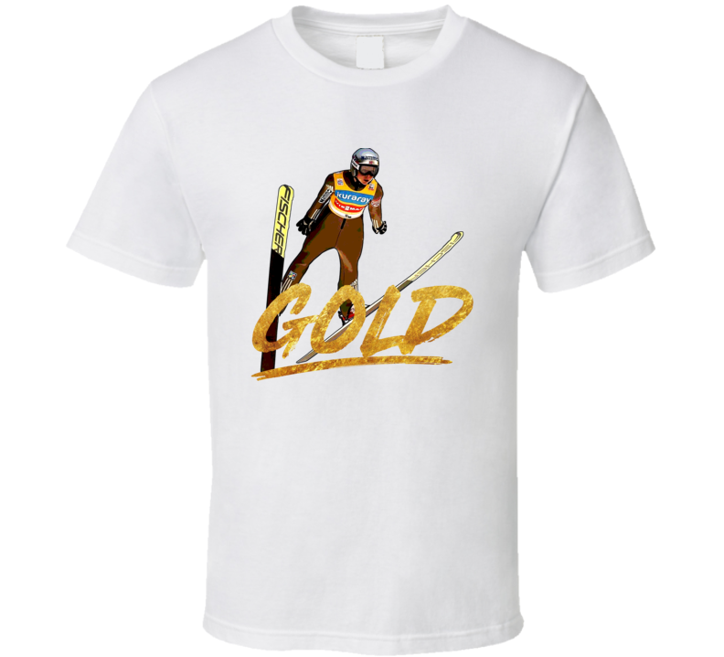 Maren Lundby Gold Norway Ski Jump 2018 Olympic Athelete Fan T Shirt
