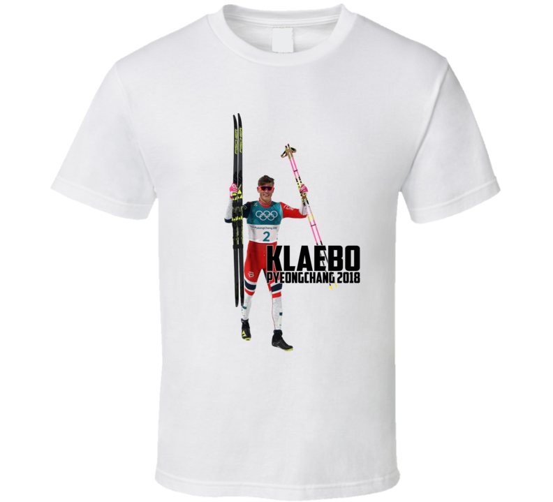 Johannes Høsflot Klæbo Norway Cross Country Skiing 2018 Olympic Athelete Fan T Shirt