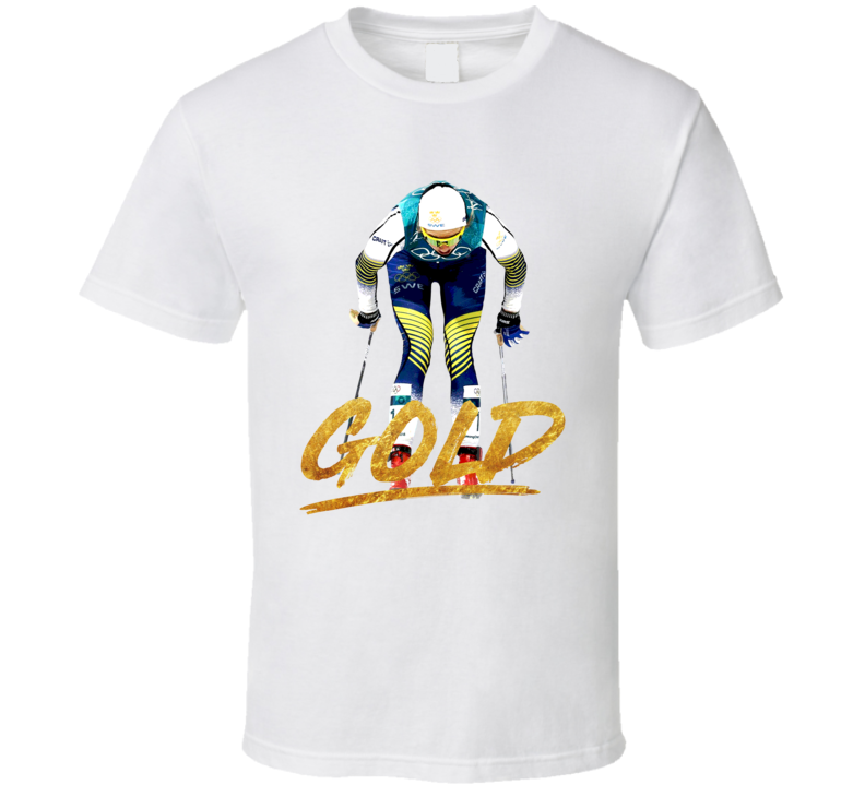 Stina Nilsson Gold Sweden Cross Country Skiing 2018 Olympic Athelete Fan T Shirt