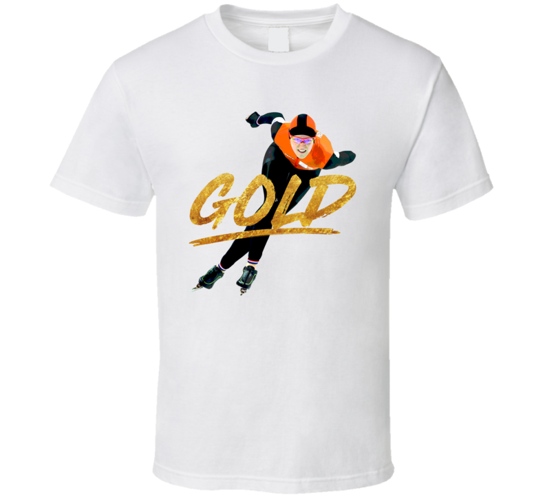 Jorien Ter Mors Gold Netherlands Speed Skating 2018 Olympic Athelete Fan T Shirt