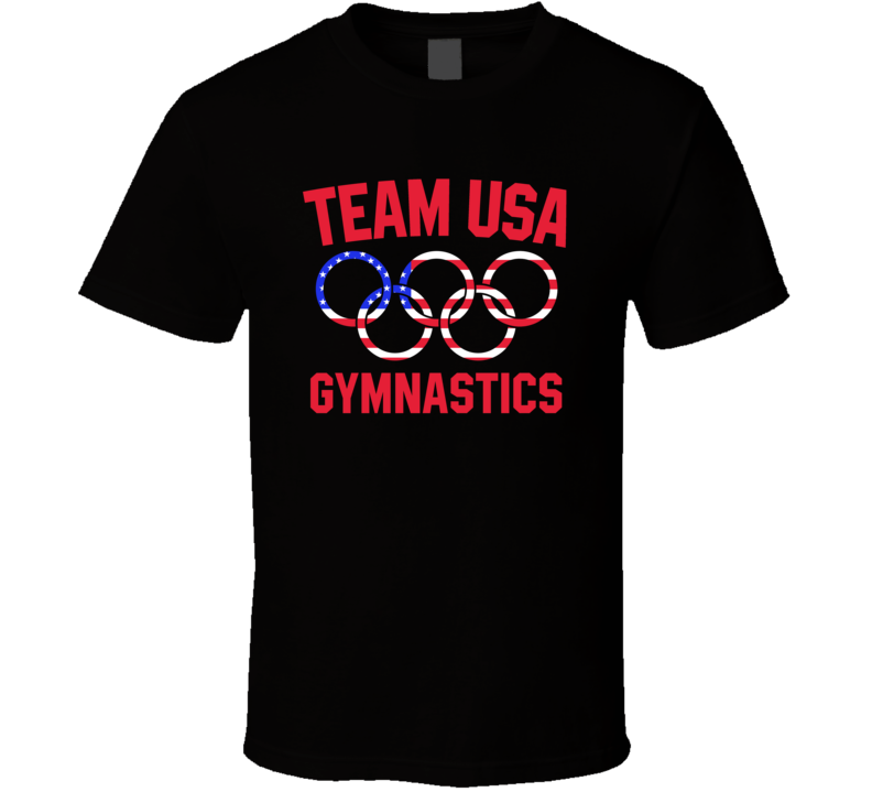 Team Usa Gymnastics Olympics Event Patriotic Rings Cool T Shirt