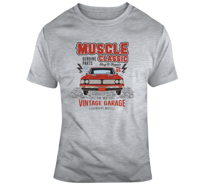 Vintage Garage Classic Muscle Car T Shirt