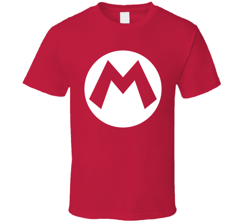 Super Mario Hat Logo T Shirt