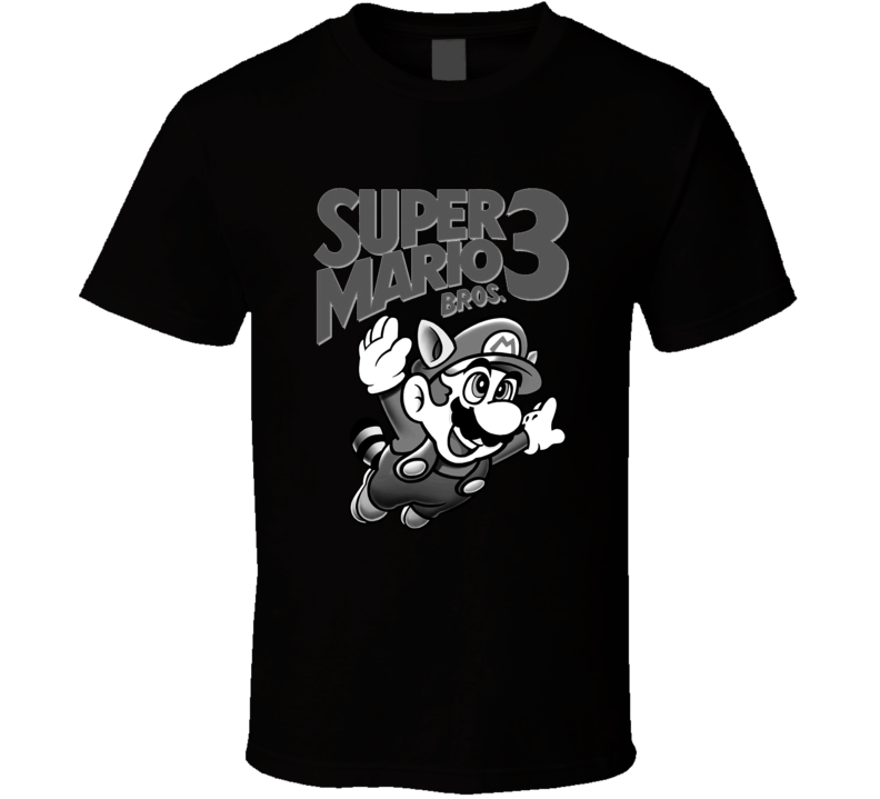 Mario Bros. 3 Retro Nintendo Black T Shirt