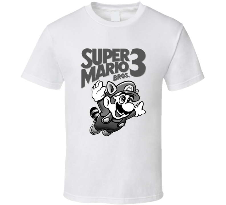 Mario Bros. 3 Retro Nintendo White T Shirt