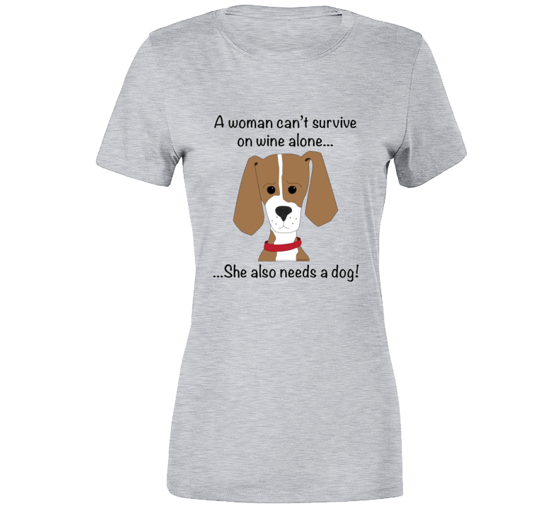 Wine Plus Dog T Shirt