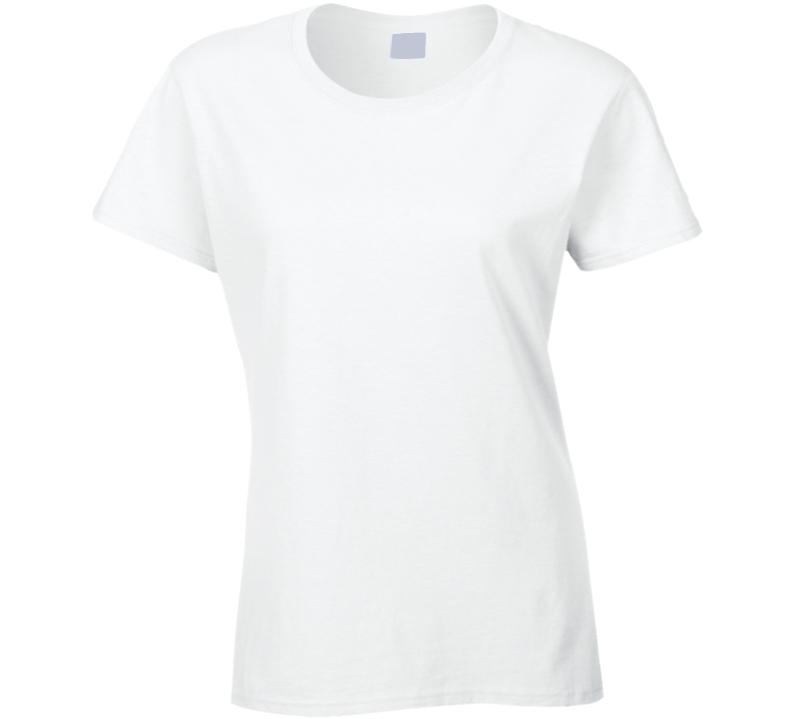Beagle Face. Prim  White 0713 Ladies T Shirt
