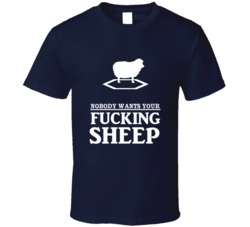 Settlers of Catan Lonely Sheep Nobody Wants You Sheep Cursing Funny T Shirt