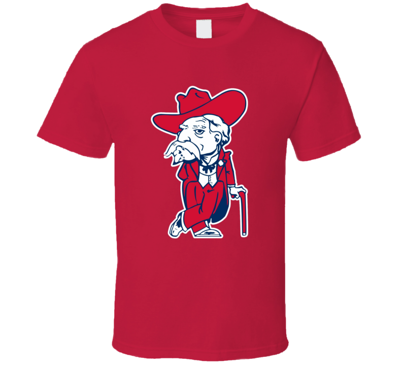 Rebel Man Mascot Ole Miss T Shirt