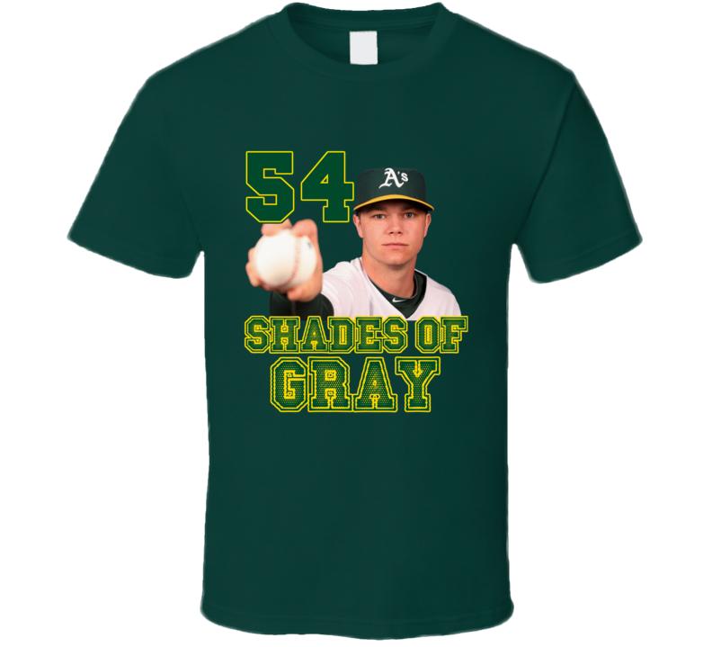 54 Shades of Gray Parody Sonny Gray Oakland Baseball T Shirt