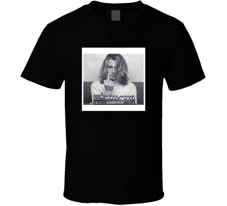 Johnny Depp Blow Movie Mugshot T Shirt