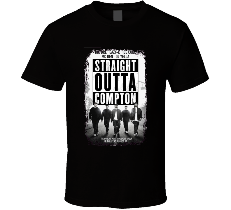 Straight Outta Compton Movie Poster NWA Music Group T Shirt