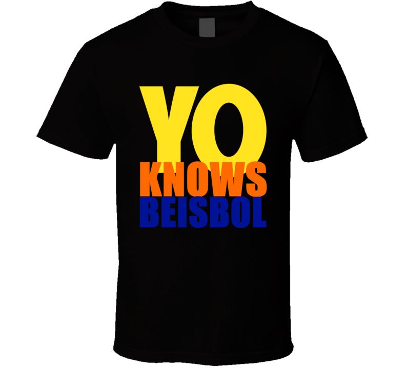 Yo Know Beisbol Yoenis Cespedes Noah Syndergaard T Shirt