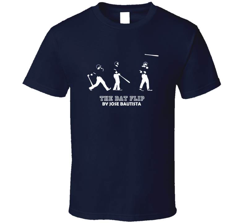 The Bat Flip Evolution Jose Bautista Toronto Baseball T Shirt
