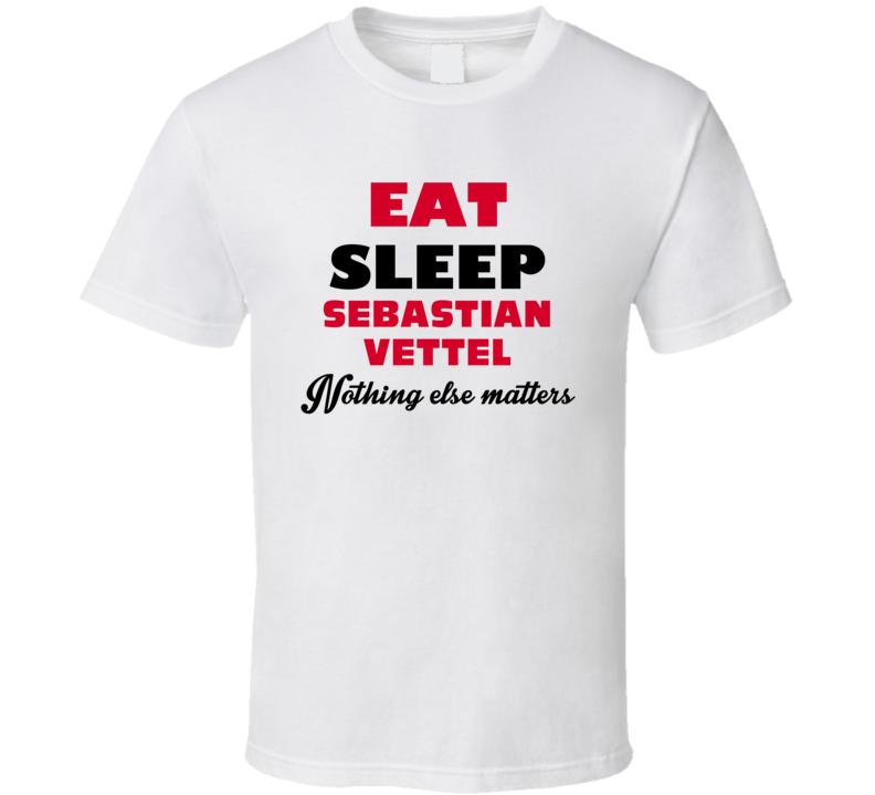 eat sleep sebastian vettel funny celebrity t shirt. Black Bedroom Furniture Sets. Home Design Ideas