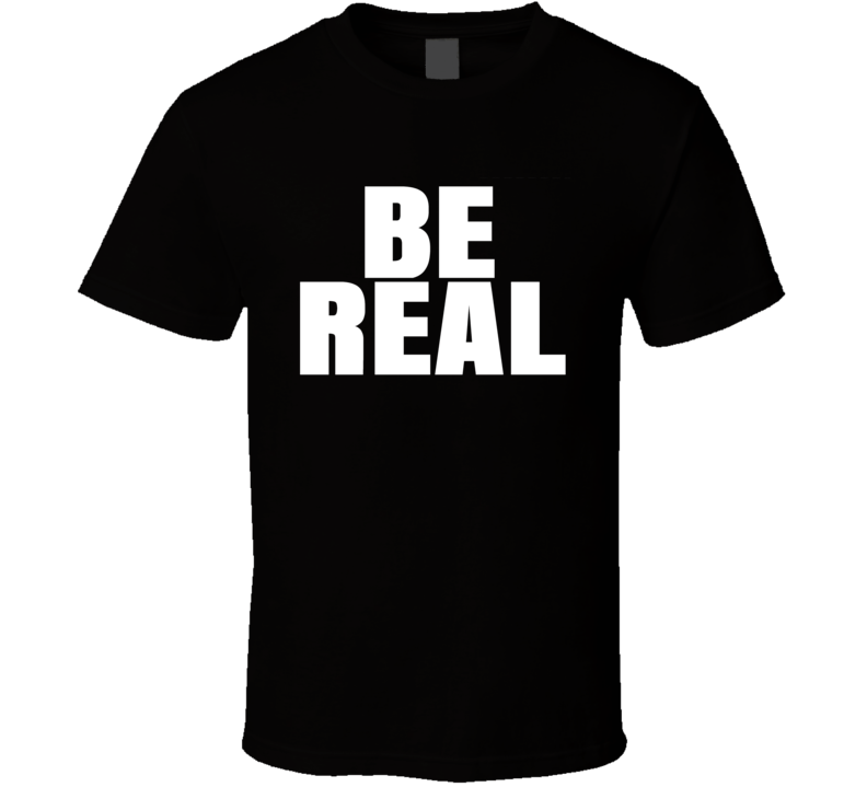 Mike Tyson Wears Be Real T Shirt