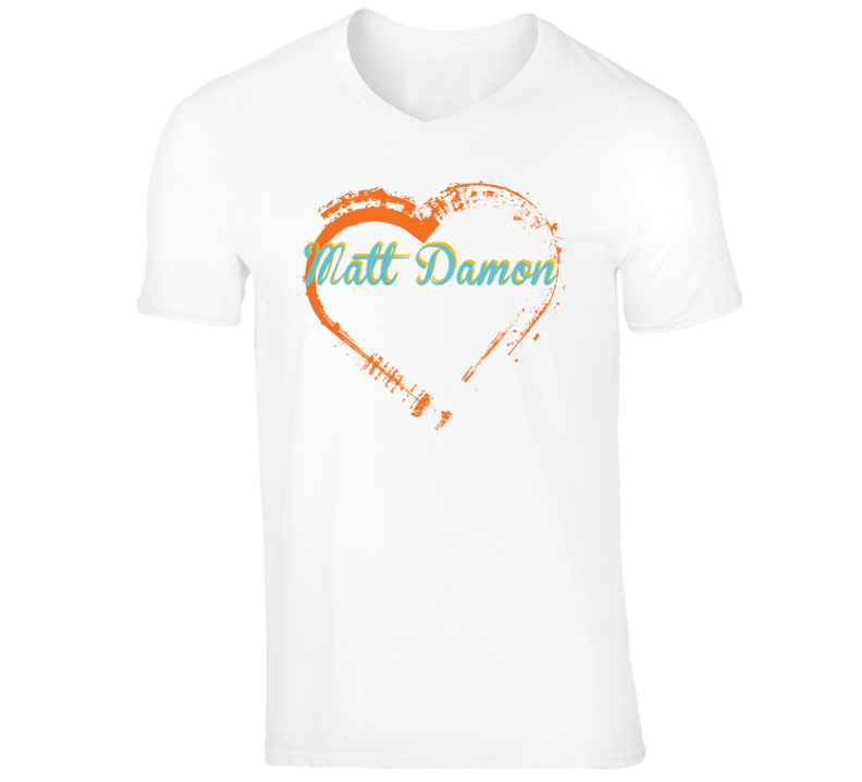 Heart Matt Damon Celebrity T Shirt