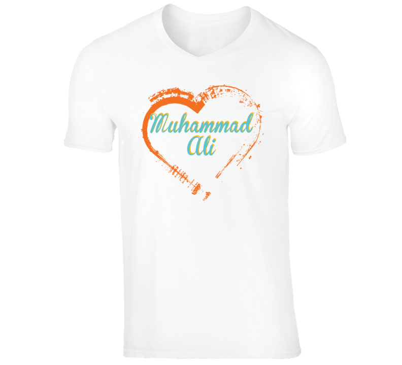 Heart Muhammad Ali Celebrity T Shirt