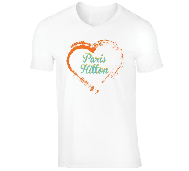 Heart Paris Hilton Celebrity T Shirt