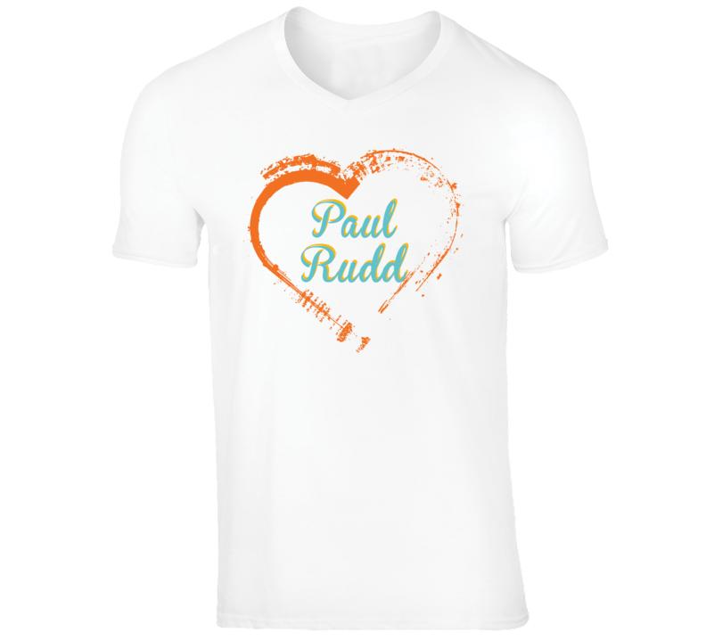 Heart Paul Rudd Celebrity T Shirt