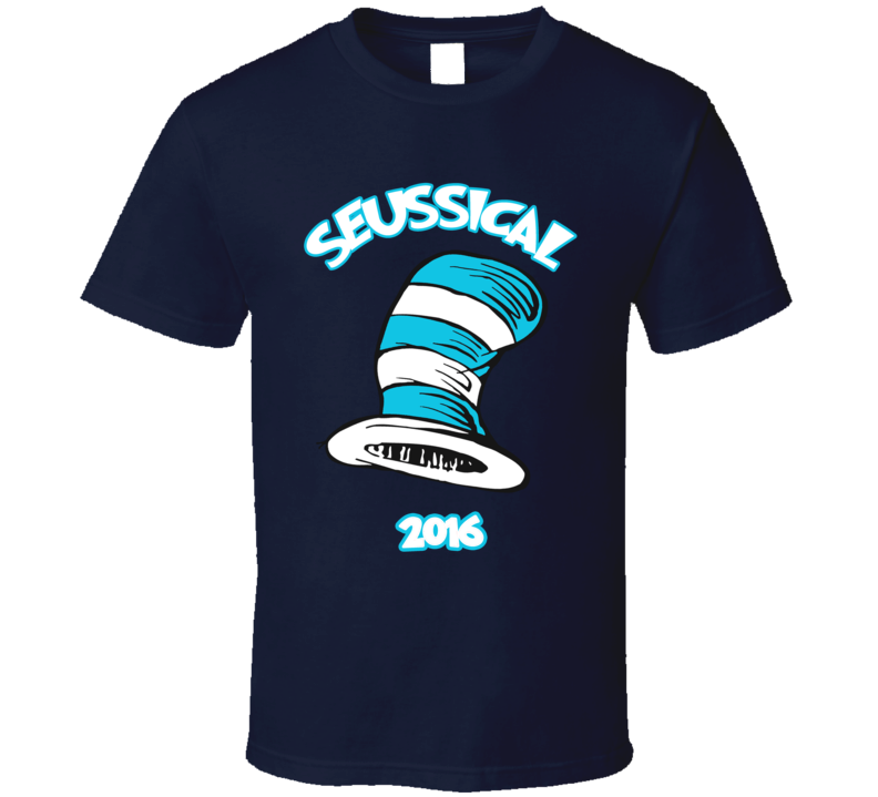 Seussical Dr Seuss Cat In The Hat Front T Shirt