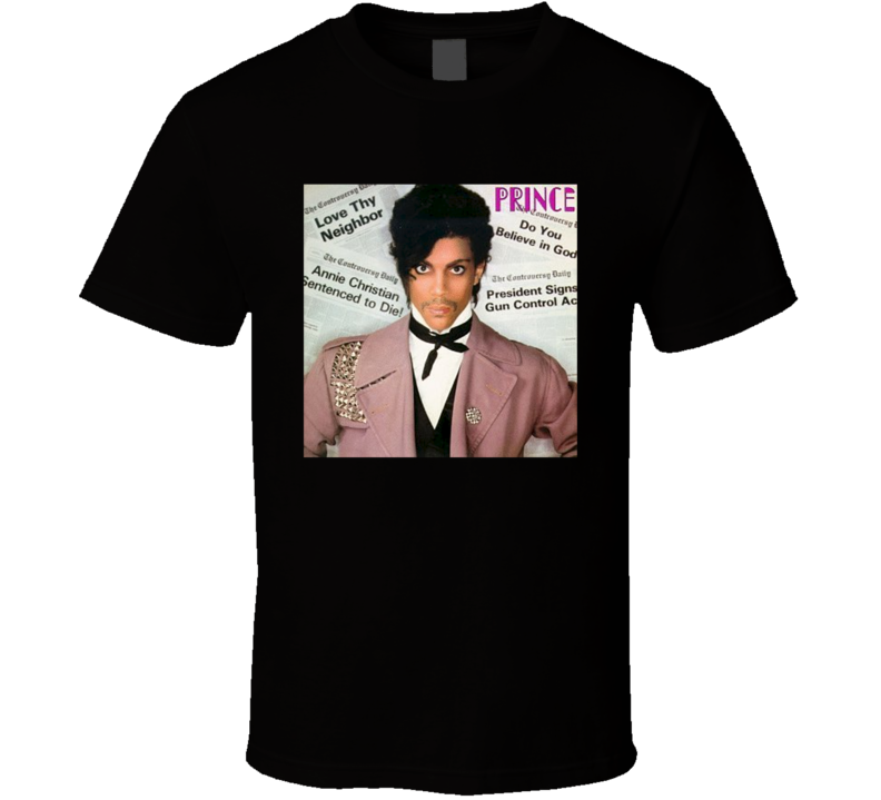 Prince Controversy Cover Album Singer Music Legend T Shirt