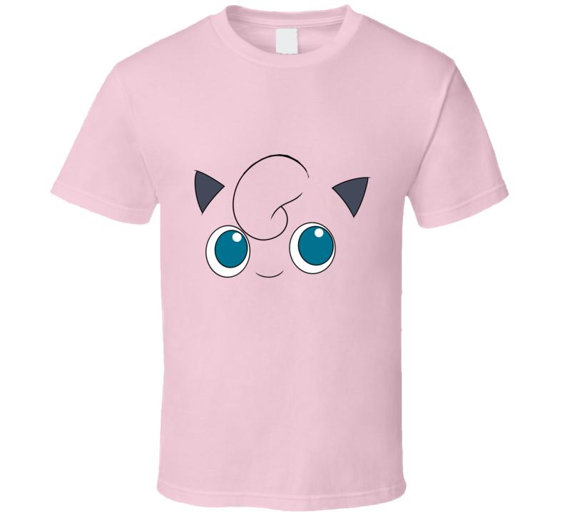 Jigglypuff Pokemon Face Funny T Shirt