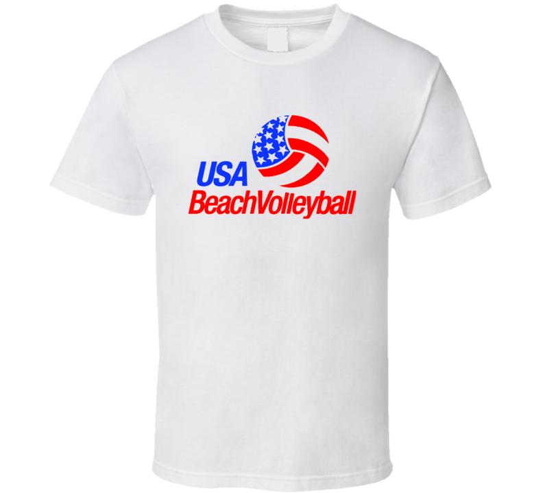 USA Beach Volleyball Olympics Sports Team T Shirt