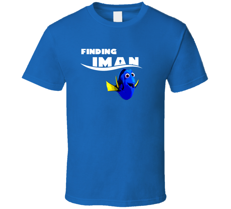 Finding Iman Finding Dory Movie Parody Funny Name T Shirt