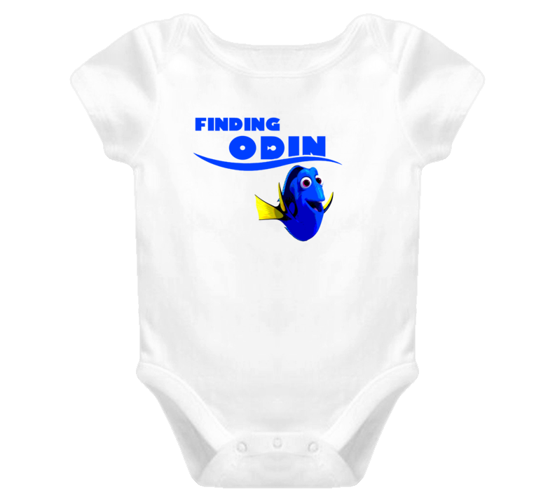 Finding Odin Finding Dory Movie Parody Funny Name Baby One Piece