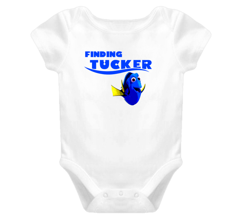 Finding Tucker Finding Dory Movie Parody Funny Name Baby One Piece