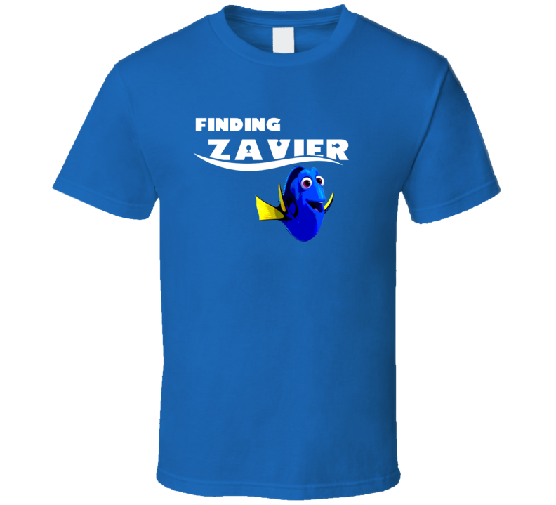 Finding Zavier Finding Dory Movie Parody Funny Name T Shirt
