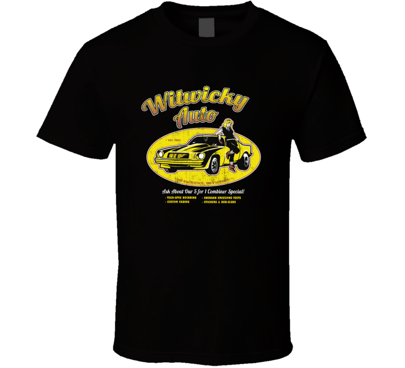 Witwicky Auto Transformers Retro T Shirt