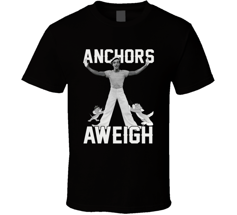 Gene Kelly Dancing Tom Mouse Funny Retro Anchors Aweigh T Shirt