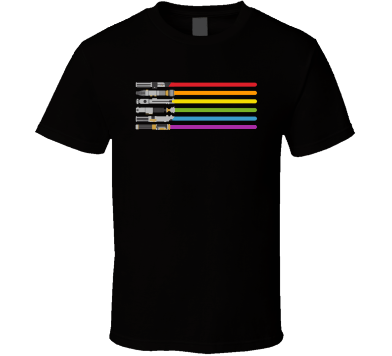 Lightsaber Rainbow LGBT Star Wars T Shirt