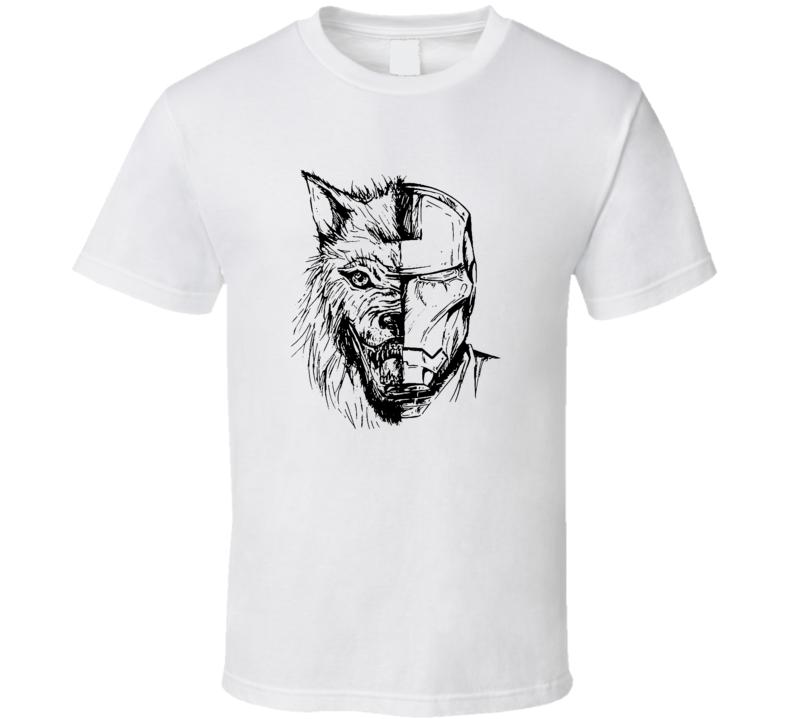 Wolf Stark Ironman Robert Downey Jr T Shirt