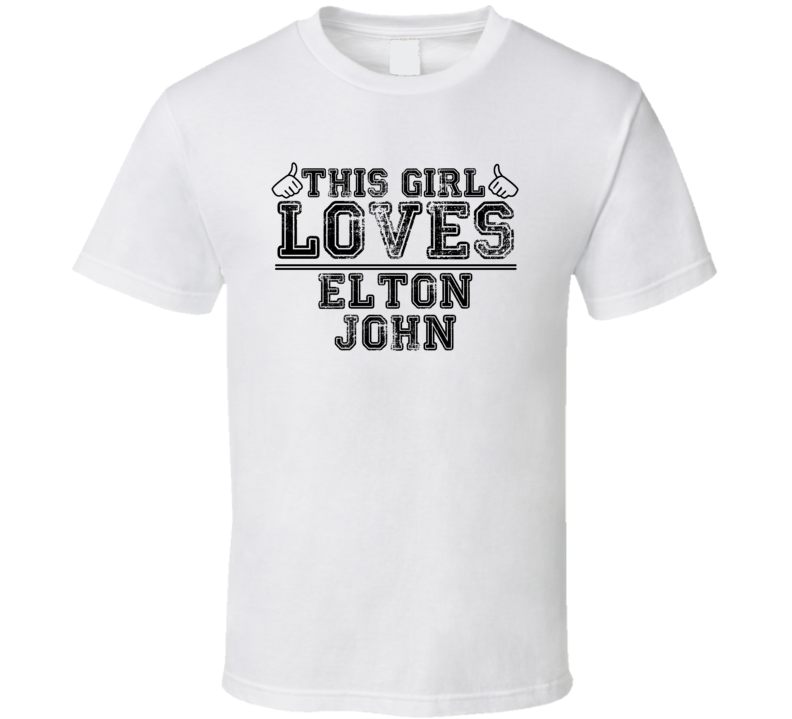 This Girl Loves Elton Thumbs Up Music T Shirt