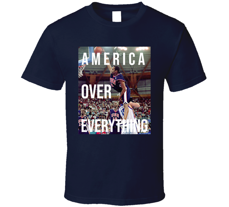 America Over Everything Vince Carter Usa Basketball Sports Fan T Shirt